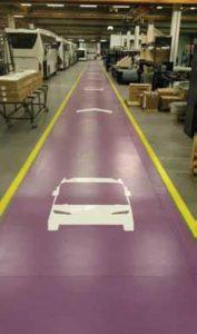Garage Marking Purple